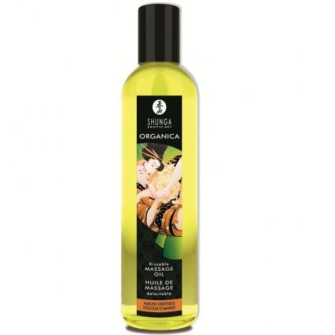 shunga aceite de masaje erótico orgánico comestible almendra dulce