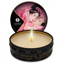 SHUNGA MINI CARESS BY CANDELIGHT VELA MASAJE ROSAS 30ML