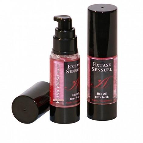 extase sensuel aceite de masaje efecto extra fresh fresa 30ml