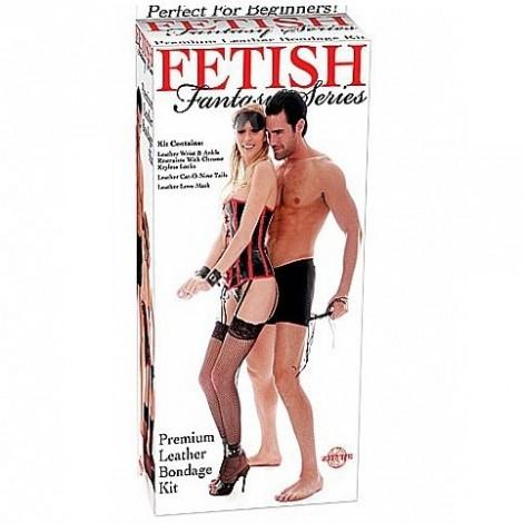fetish fantasy kit bondage de cuero premium