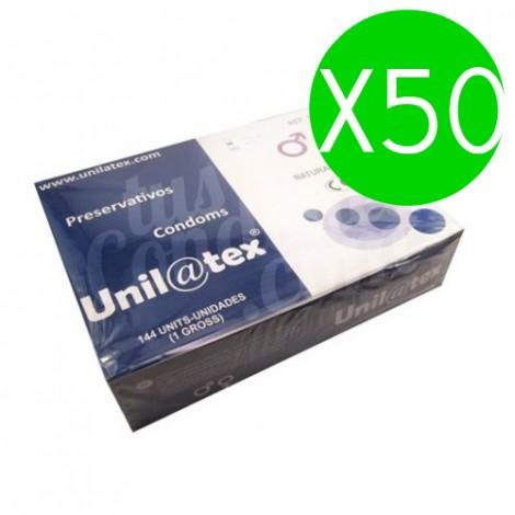 unilatex preservativos naturales 144 uds x 50uds