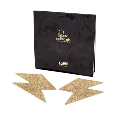 bijoux pezoneras flash rayo oro