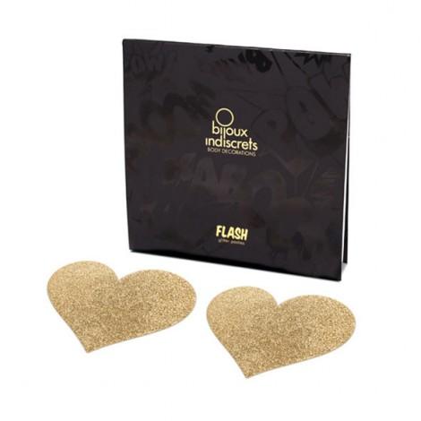 bijoux pezoneras flash corazón oro