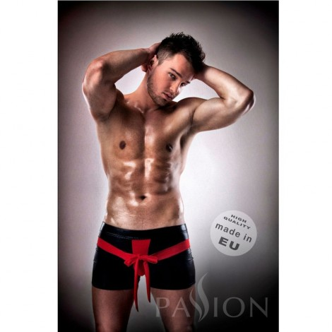 passion 001 komplet leather rojo negro