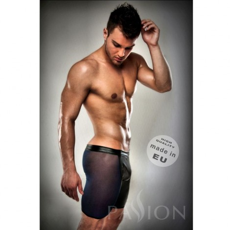 boxer negro 026 transparente largo leather