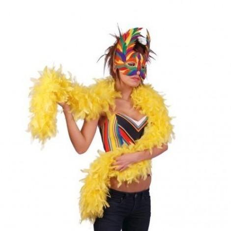 boa plumas amarillo 183 cm