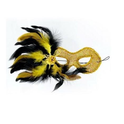 mascara veneciana acabado amarilla