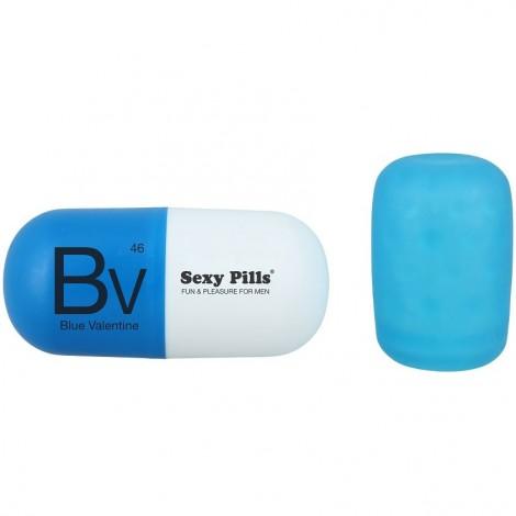mini masturbador capsula azul valentine