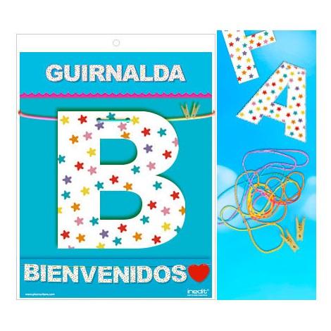 GUIRNALDA BIENVENIDOS (CARTULINA 220gr)