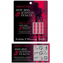KHEPER GAMES JUEGO WHIP, BIND AND SCRATCH TICKETS