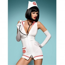 OBSESSIVE EMERGENCY DRESS WITH STEHOSCOPE S/M