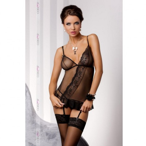 estera corset negro c liguero by casmir